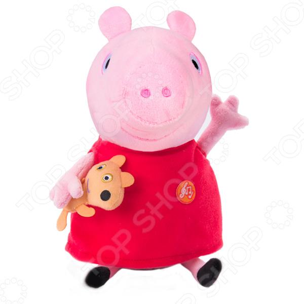 Мягкая игрушка со звуком Peppa Pig «Пеппа с игрушкой»