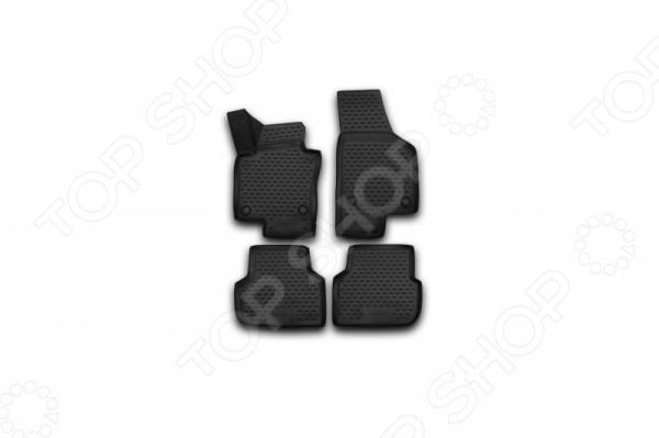 Комплект 3D ковриков в салон автомобиля Novline-Autofamily Volkswagen Jetta 2010-2015 / 2015 брызговики передние novline autofamily volkswagen polo 2010