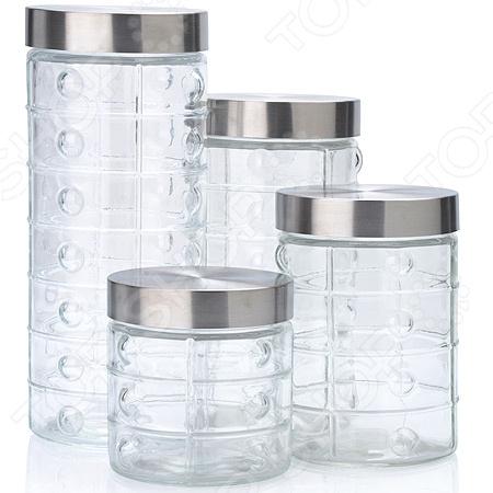 Набор банок для сыпучих продуктов Mayer&Boch MB-27575 набор банок для сыпучих из 3 предметов mayer and boch mb 23491