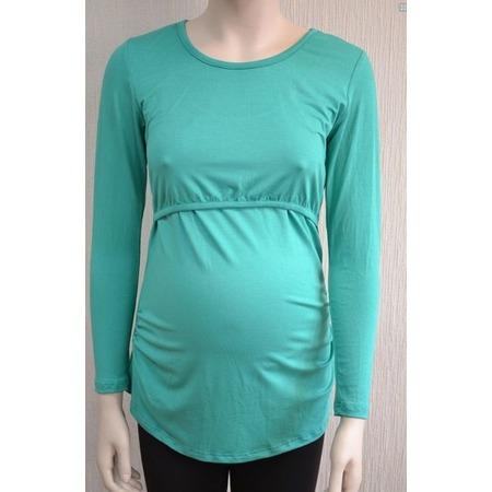 Купить Футболка для беременных Nuova Vita 1214. Цвет: изумрудный