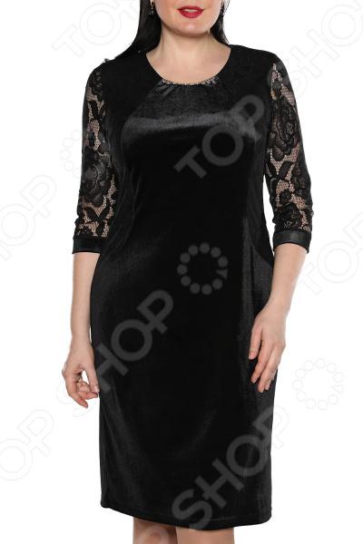 Платье Лауме-Лайн «Леди бархата». Цвет: черный