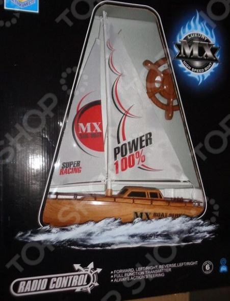 Лодка на радиоуправлении 1 Toy парусная игрушка на радиоуправлении