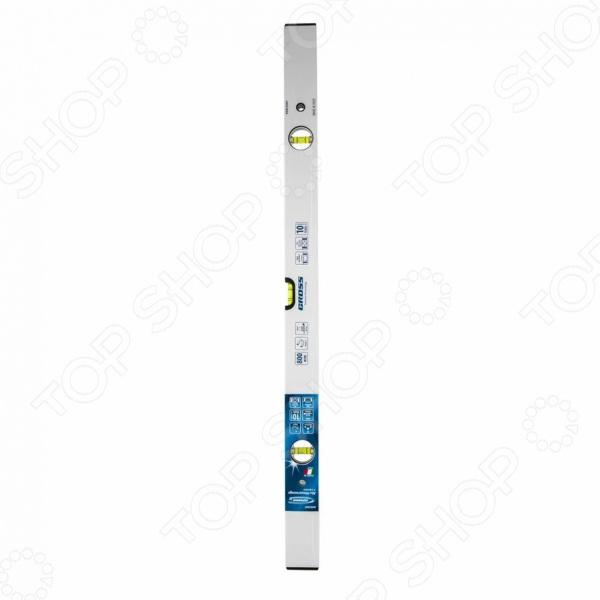 Уровень магнитный GROSS фрезерованный, 3 глазка магнитный уровень hesler 80 см 3 глазка