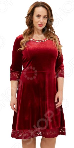 Платье Лауме-Лайн «Бархатная нимфа». Цвет: бордовый
