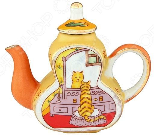 Чайник сувенирный Elan Gallery «Кошка у зеркала» Elan Gallery - артикул: 967591
