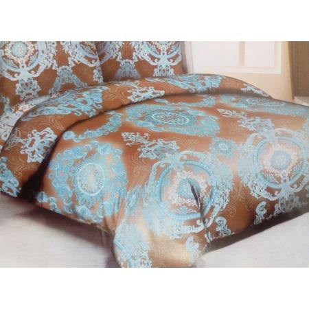 Комплект постельного белья «Голубой узор». Евро