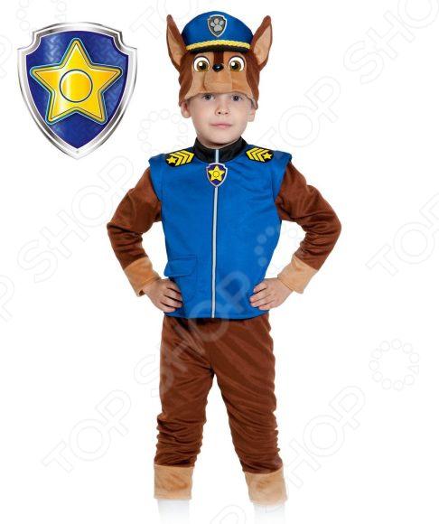 Костюм карнавальный для мальчика Карнавалофф «Щенячий патруль. Гонщик Чейз»