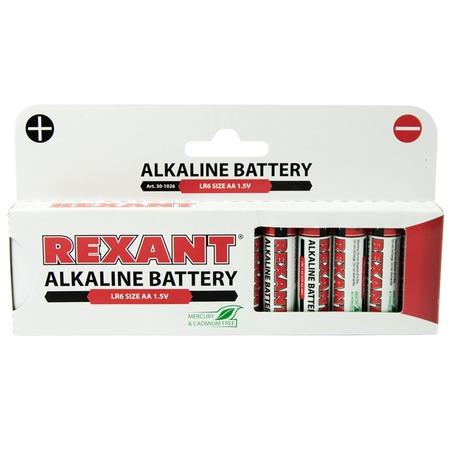 Батарейка алкалиновая Rexant 30-1026
