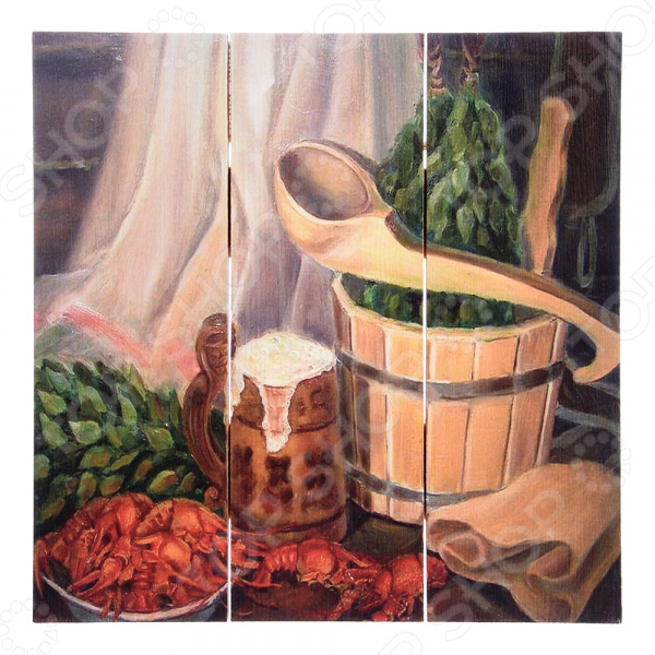 Картина для бани Банные штучки «С легким паром» картина д бани в бане генералов нет 30х40см сосна