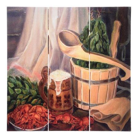 Купить Картина для бани Банные штучки «С легким паром»