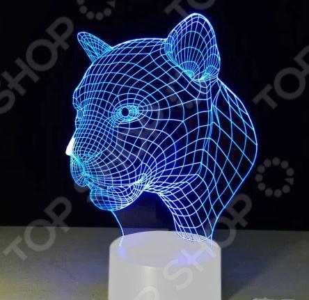 Светильник 3D «Леопард»