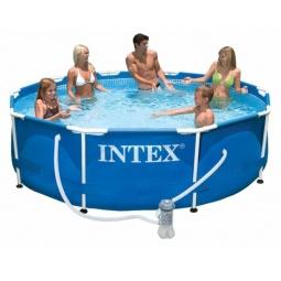 Бассейн каркасный с фильтр-насосом Intex с28202