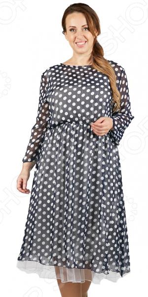 Платье СВМ-ПРИНТ «Итальяна». Цвет: синий свм принт тонкий вкус цвет фиолетовый