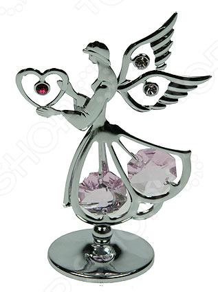 где купить  Фигурка декоративная Crystocraft «Ангел» с кристаллами Swarovski 67585  по лучшей цене