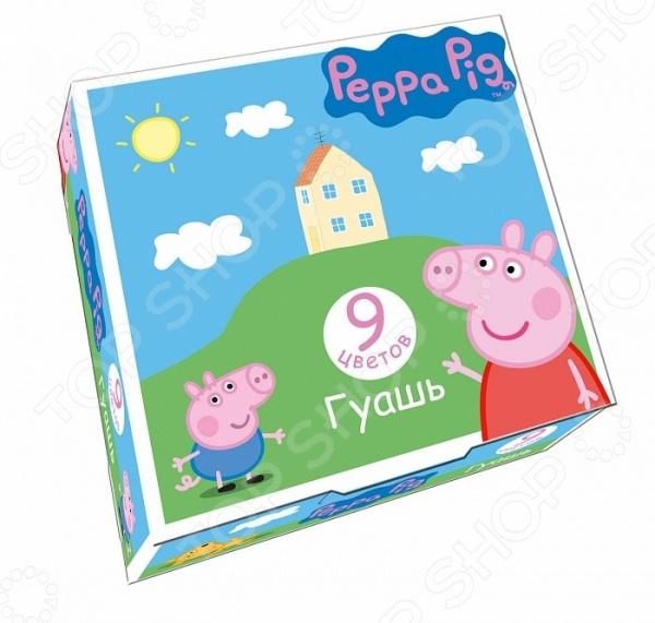 Peppa Pig. Количество цветов: 12 шт Гуашь Росмэн Peppa Pig. Количество цветов: 9 шт