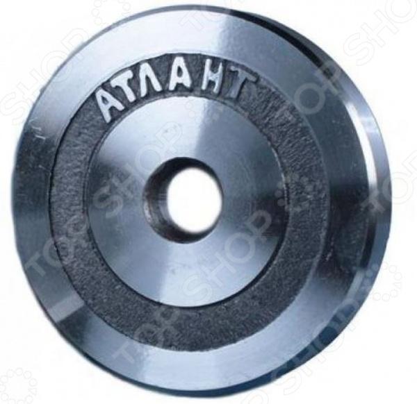 Диск Атлант для штанги. Диаметр отверстия диска: 25,6 мм
