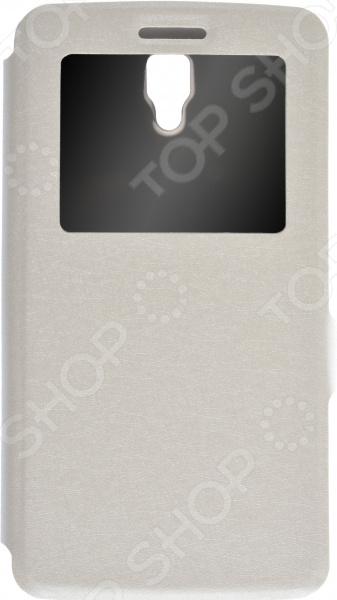 Чехол Prime Lenovo A2010 красный дизайн кожа pu откидная крышка бумажника карты держатель чехол для lenovo a2010