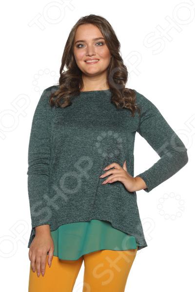 Блуза Prima Linea «Женская нежность». Цвет: изумрудный