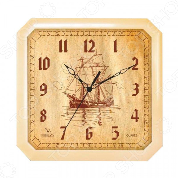 Часы настенные Вега П 4-14/7-69 «Парусник» часы настенные вега парусник белый п 4 5 7 7
