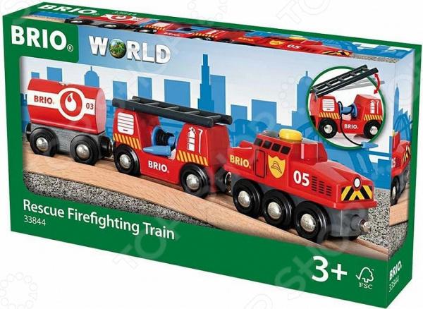 Поезд игрушечный Brio «Пожарный» eichhorn вагон с цистерной