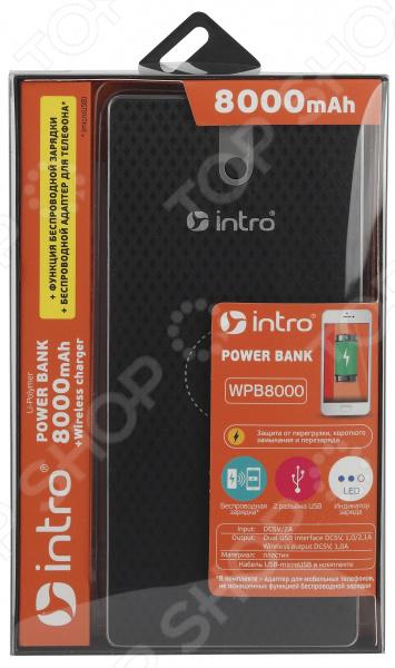 Устройство зарядное беспроводное Intro WPB8000 черный usb кабель для зарядки fitbit заряда для fitbit гибкой силы 2