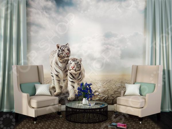 Фотообои ТамиТекс «Белые тигры». Количество полотен: 3 шт 1