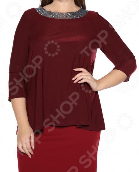 Блуза Лауме-Лайн «Сияющая мечта». Цвет: бордовый блуза лауме лайн шикарный букет цвет розовый