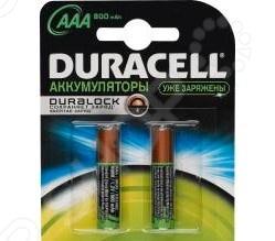 Набор батареек аккумуляторных Duracell HR03-2BL аккумулятор эра eco energy тип aaa hr03 2bl 1000 мач 2 шт