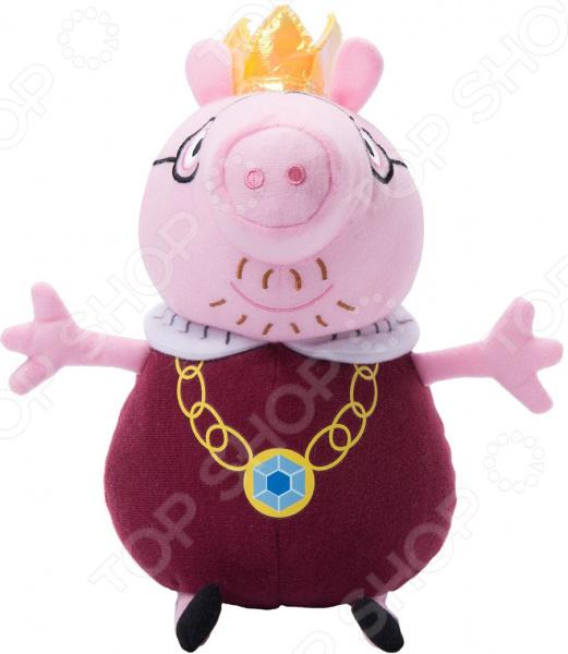 Мягкая игрушка Peppa Pig «Папа Свин король» peppa pig мягкая игрушка peppa pig папа свин с галстуком