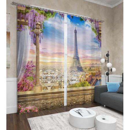 Купить Фотошторы Сирень «Романтика Эйфелевой башни»