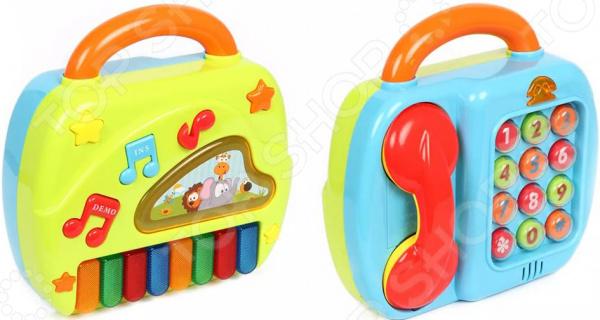 Игрушка музыкальная S+S TOYS Bambini «Телефон и пианино» olto cch 2200 white автомобильное зарядное устройство