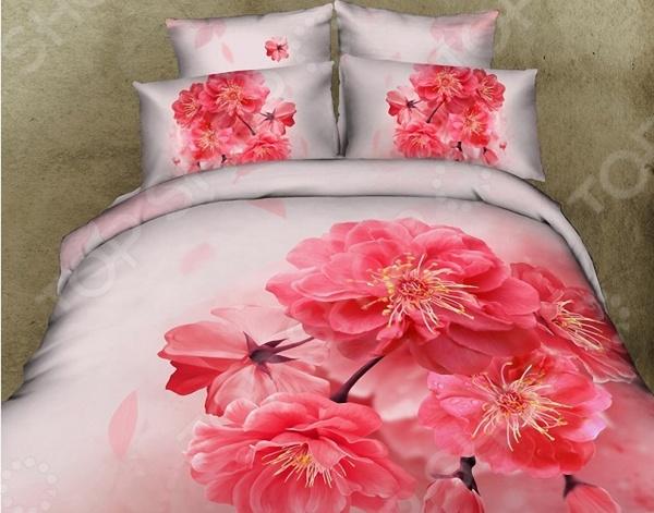 Комплект постельного белья с эффектом 3D «Адель». 1,5-спальный