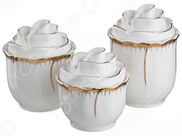 Набор банок для сыпучих продуктов Lefard «Цветочная симфония» 590-058 чайный набор lefard цветочная симфония 590 004