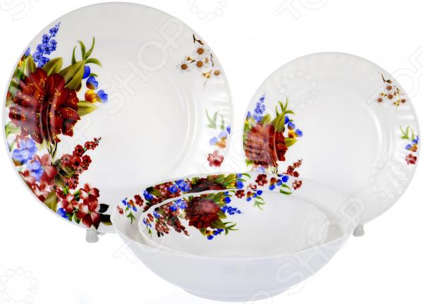Набор столовой посуды OlAff «Наранга». Количество предметов: 19 набор столовой посуды olaff эстелла