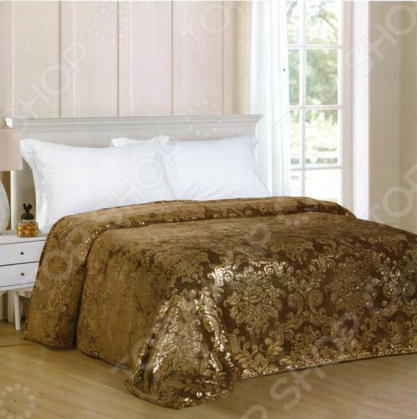 фото Плед Avrora Texdesign «Золотой век». Цвет: коричневый, Пледы