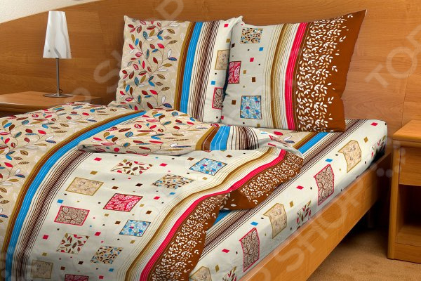 Комплект постельного белья Fiorelly «Яркий листопад». 1,5-спальный