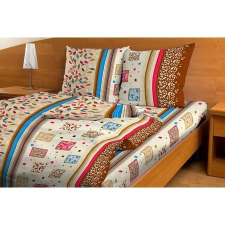 Купить Комплект постельного белья Fiorelly «Яркий листопад». 1,5-спальный