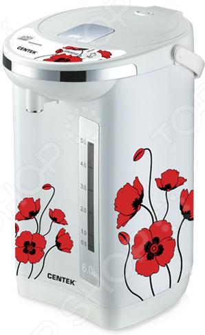 лучшая цена Термопот Centek CT-1081 «Цветы»