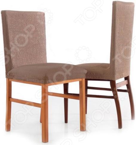 Zakazat.ru: Комплект натяжных чехлов на стул Еврочехол «Рустика». Цвет: бежевый