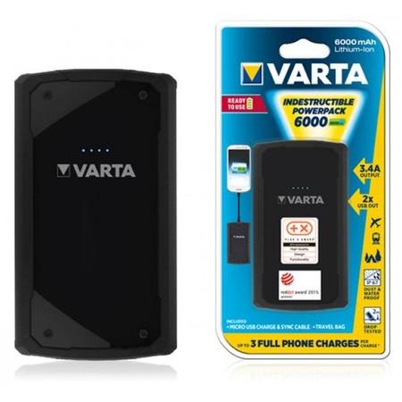 Купить Аккумулятор внешний VARTA Indestructable PowerPack 6000