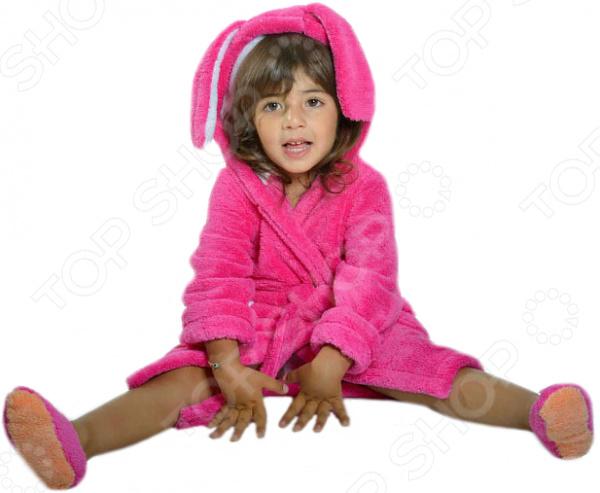 Халат для девочки Dream Time «Зайка». Цвет: малиновый