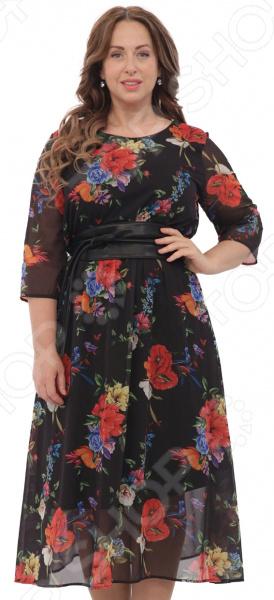купить Платье Матекс «Джасинта». Цвет: черный по цене 6799 рублей