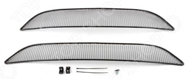 Комплект внешних сеток на бампер Arbori Soty для Ford Focus III, 2015. Цвет: черный планшет dell latitude 5285 16гб 512гб windows 10 professional 64 черный [5285 7949]