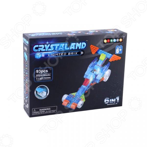 Конструктор со световыми эффектами N-BRIX Crystaland «Гонка 6 в 1» crystaland конструктор истребитель 6 в 1