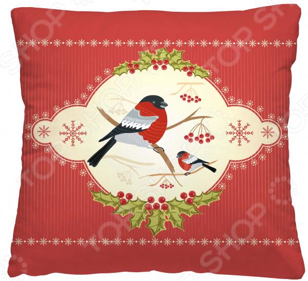 Подушка декоративная Волшебная ночь «Снегирь»