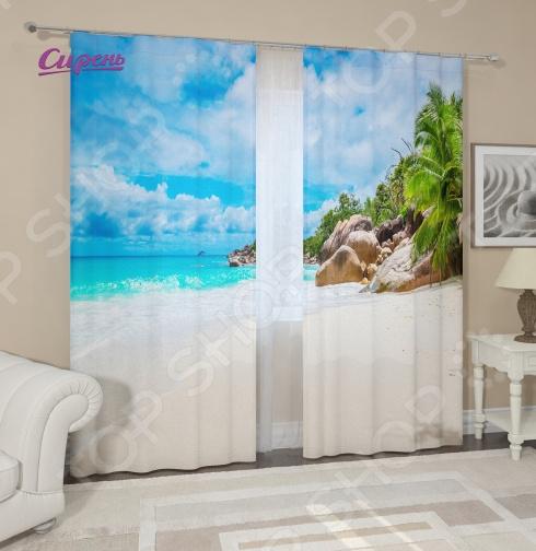 Фотошторы Сирень «Карибский берег» цены онлайн