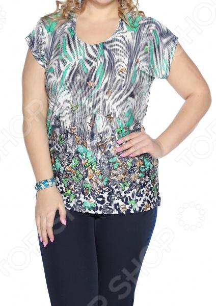 Блуза Pretty Woman «Солнечная». Цвет: зеленый, белый