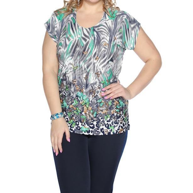 фото Блуза Pretty Woman «Солнечная». Цвет: зеленый, белый