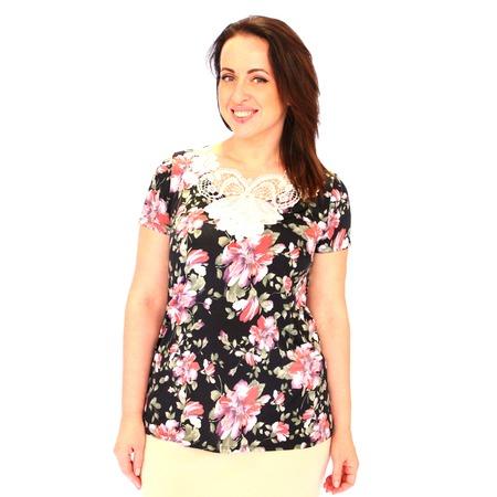 Купить Блуза Wisell «Эсмеральда». Цвет: черный, белый