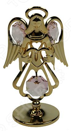 где купить  Фигурка декоративная Crystocraft «Ангел» с кристаллами Swarovski 67605  по лучшей цене